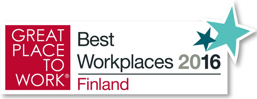 Great Place To Work - Best Workplaces 2016 - Finland