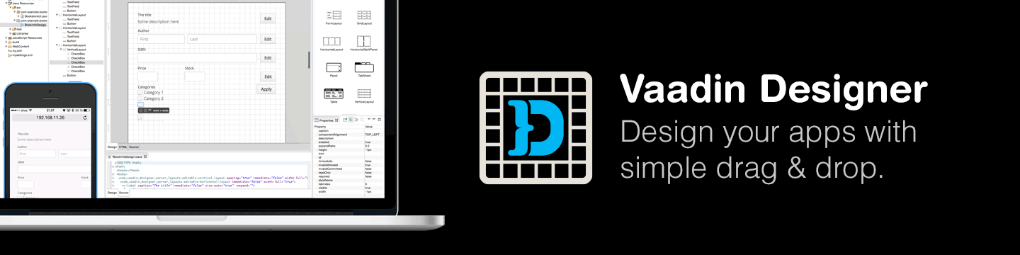 Vaadin Designer - Design your apps with drag and drop