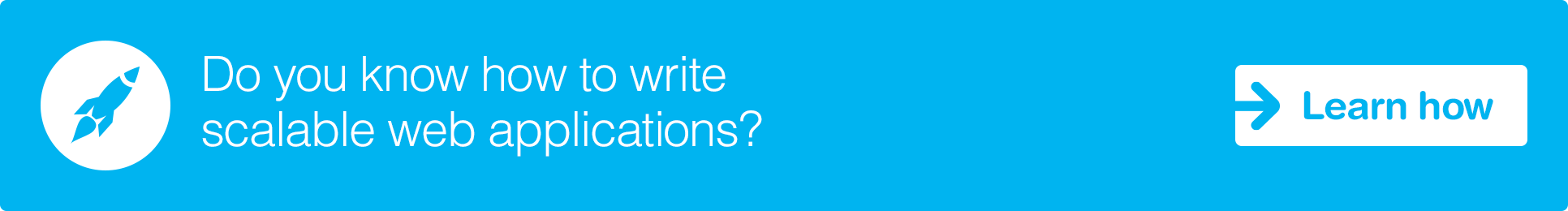 Learn how to write scalable web applications