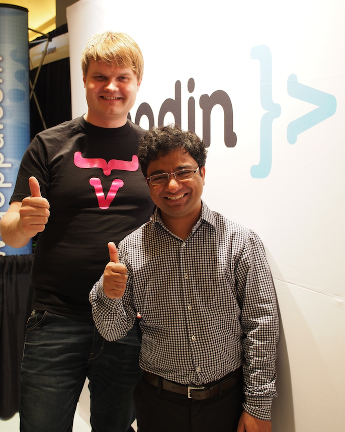Joonas and Prashant at JavaOne2012