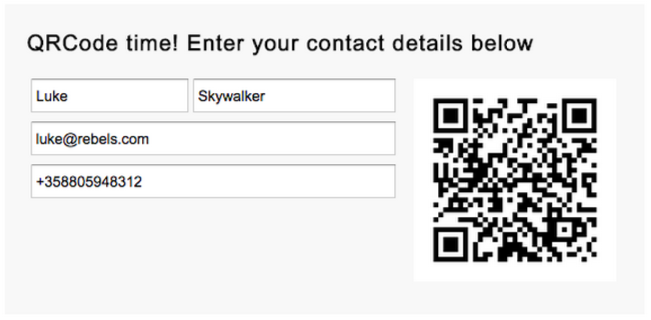 QR Code example app with GWT