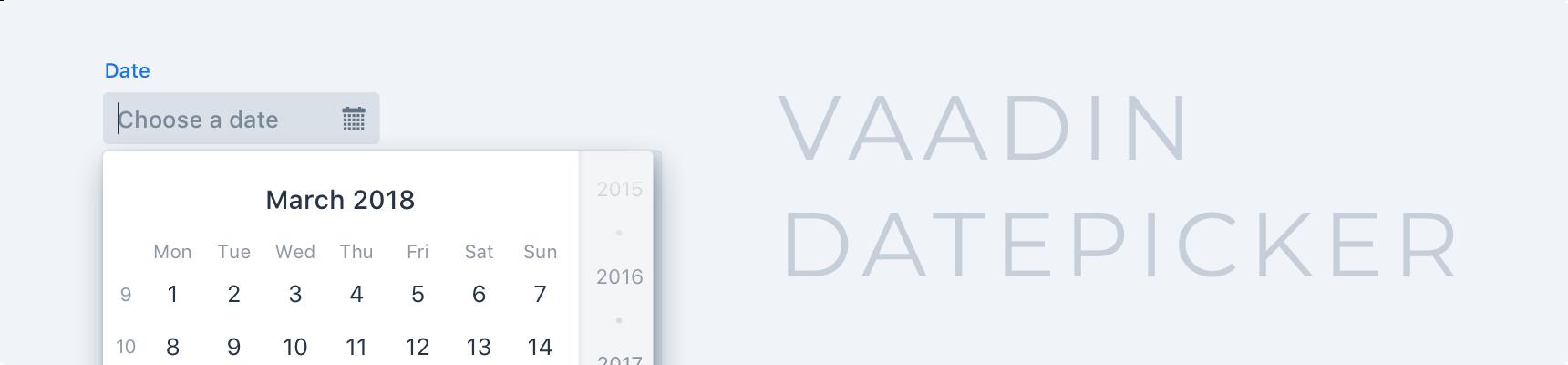Date Picker | Components | Vaadin