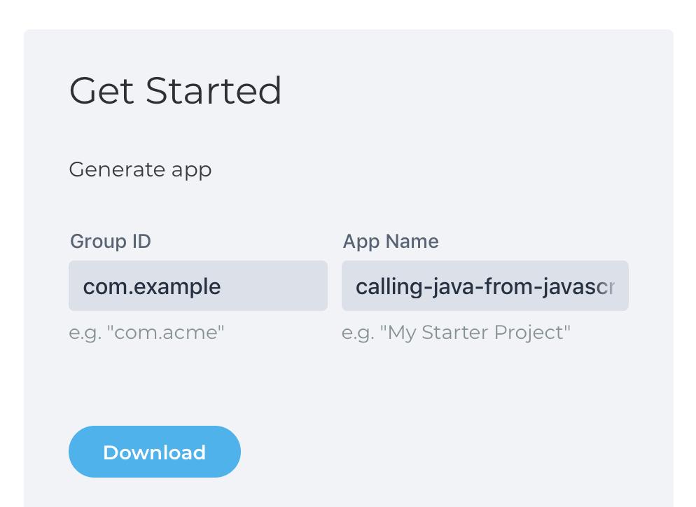 Calling Java from JavaScript