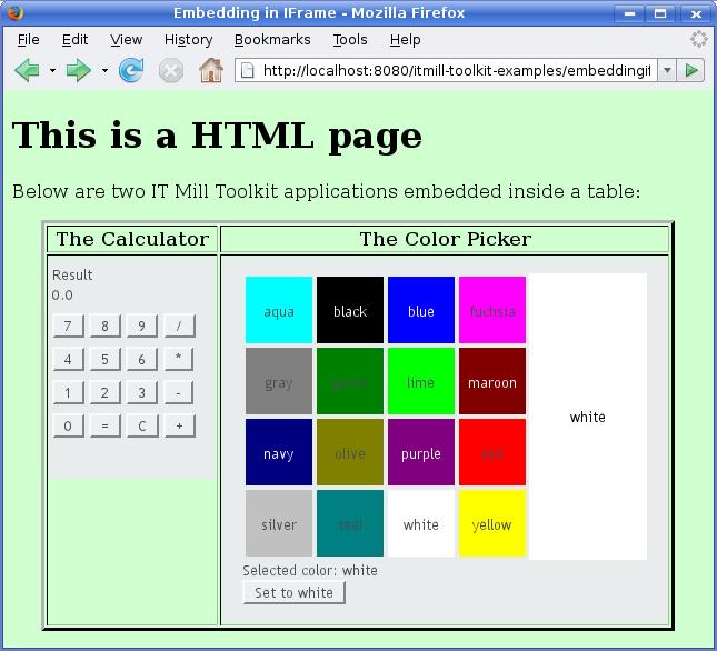 Embedding UIs in Web Pages | Vaadin Framework 7 | Vaadin 7 Docs