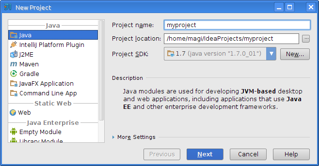 Creating a Project with IntelliJ IDEA | Vaadin Framework 7